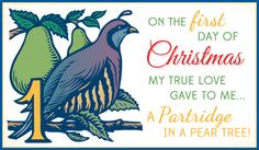 Free Partridge in a Pear Tree eCard - eMail Free Personalized Christmas Cards Online