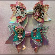 Voodoo Doll Inspired Over the Top Boutique Bow Princess Bow Hairbow Clip
