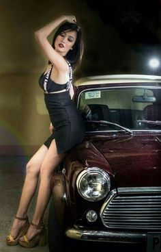 42 Ideas Motorcycle Girl Photography Sexy For 2019 Sexy Cars, Hot Cars, Car Girls, Pin Up Girls, Classic Mini, Classic Cars, Benfica Wallpaper, Sexy Autos, Up Auto