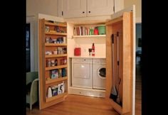 Small Space Organizing.   I love that there are drawers under the machines.  | Photos | HGTV Canada