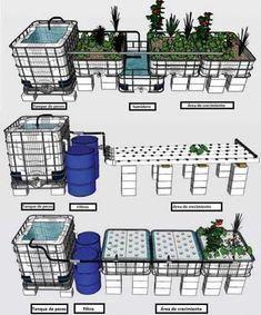 4 Easy Steps to Set-Up Your Own Backyard Aquaponics System - Tools And Tricks Club Aquaponics System, Hydroponic Farming, Aquaponics Greenhouse, Aquaponics Plants, Agriculture, Aquaponique Diy, Urban Farming, Growing Plants, Fish Tank