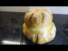 This is a Traditional English loaf, shaped by two balls of dough, on large and one small. With a crusty exterior and the soft interior it is ideal for sandwi. Cottage Loaf, Bread Board, Food, Essen, Meals, Yemek, Eten