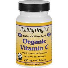 Healthy Origins Vitamin C Organic 250 mg 60 Tablets