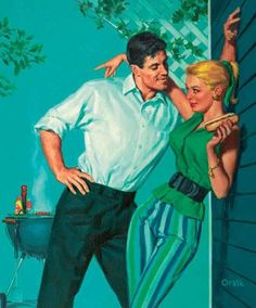 "I love the covers of old pulp fiction novels.  Like this one, ""Summer Treat"".  A treat, indeed."
