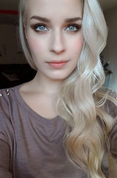beautiful hair, looks amazing with her porcelain skin