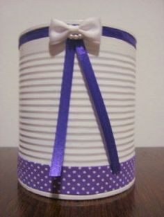 latas Diy Mother's Day Crafts, Tin Can Crafts, Mothers Day Crafts, Jar Crafts, Arts And Crafts, Recycle Cans, Diy Cans, Tin Can Alley, Painted Jars
