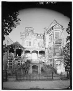 Herman Marwitz House, Galveston, Texas - Built 1893 in the Richardsonian/Romanesque style, it was demolished in 1969