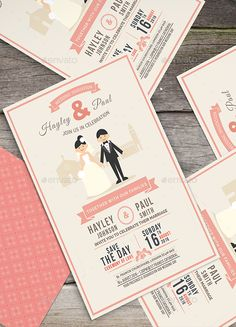 Wedding Invitation — Photoshop PSD #classic #typographic • Available here → https://graphicriver.net/item/wedding-invitation/13037883?ref=pxcr