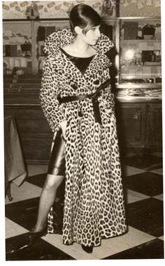 Barbara Streisand in vintage leopard