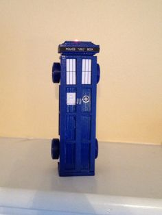 Tardis Pinewood Derby car. Craft foam to make the panels, decals using printable sticker paper.@jake smith