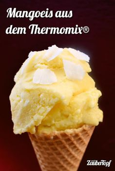 Mangoeis aus dem Thermomix® – Foto: Nicole Stroschein