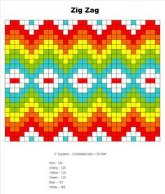 Crochet Along and Free Granny Square Pattern templates Zig Zag Crochet, Crochet Squares Afghan, Crochet Quilt, Crochet Chart, Crochet Granny, Granny Squares, Tapestry Crochet Patterns, Bead Loom Patterns, Knitting Charts