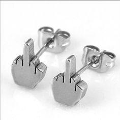 Brand New! Middle Finger Earrings