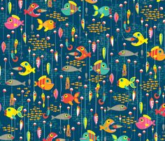 fishing_lures from Spoonflower by Laura Mayes - so cute