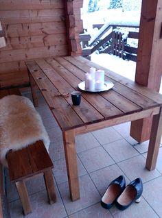 Cozy chalet terrace