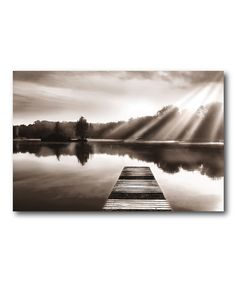 Sunset dock giclee canvas art print print canvases and products courtside market lake dock wrapped canvas freerunsca Gallery