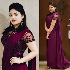 Bollywood Actress Zaira Wasim say Good Bye to the Acting On Sunday Trendy Sarees, Stylish Sarees, Fancy Sarees, Simple Sarees, Saree Designs Party Wear, Party Wear Sarees, Saree Blouse Designs, Saree Wearing Styles, Saree Styles
