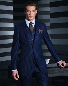 3 piece suit! | Suits | Pinterest | Nice, 3 piece suits and Navy