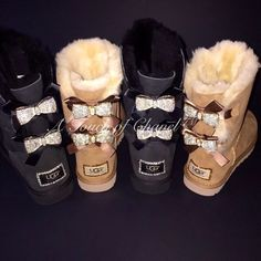 Uggs are not only the most loved but also the most controversial boots on the market. What makes them so loved and so hated at the same time? This article will answer both those questions! Cute Uggs, Cute Boots, Bow Boots, Uggs With Bows, Bow Uggs, Ugg Winter Boots, Winter Shoes, Uggs For Cheap, Cute Summer Outfits