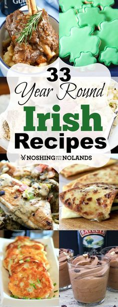 33 Year Round Irish Recipes from Noshing With The Nolands has a. 33 Year Round Irish Recipes from Noshing With The Nolands has a variety of delectable dishes for you to choose from for St. Holiday Recipes, Great Recipes, Favorite Recipes, Recipes Dinner, Easter Recipes, Christmas Recipes, Simply Yummy, Scottish Recipes, Irish Food Recipes