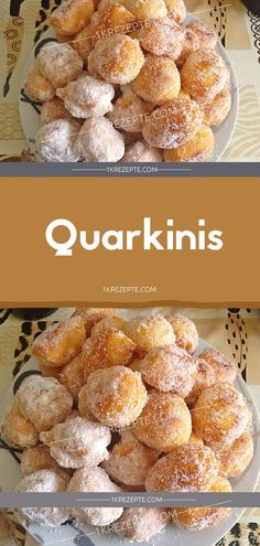 Quarkinis Ingredients: 250 g cream curd 4 eggs 250 g flour pack baking powder 4 tablespoons water 1 tablespoon sugar 1 pinch (s) salt n. powdered sugar for dusting lots of oil for frying Yummy Treats, Sweet Treats, Nutella Muffins, Baking With Kids, Healthy Fruits, Food Humor, Cakes And More, Food Inspiration, Sweet Recipes