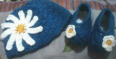 Gorro con flor crochet