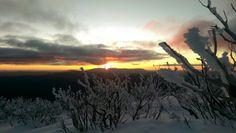 Sunset over Mt Buffalo taken from Little Mt Feathertop