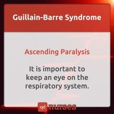 KNOW which system to pay close attention to in Guillain-Barre syndrome. - All Diseases Online Nursing Schools, Nursing School Tips, Nursing Career, Nursing Tips, Nursing Notes, Nursing Programs, Rn Programs, Ob Nursing, Lpn Schools