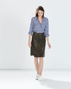 Image 1 of FAUX SUEDE SKIRT from Zara