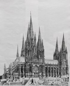 Architecture and Architects Jobs Collage Architecture, Architecture Antique, Cathedral Architecture, Architecture Logo, Architecture Student, Architecture Drawings, Classical Architecture, Historical Architecture, Reims Cathedral