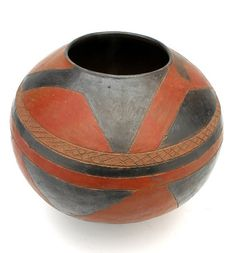 Africa. Swazi terracotta pot from South Africa. 20th century