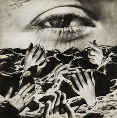Grete Stern Das Ewige Auge, um 1950 Fotomontage, Silbergelatinepapier, 39,5 x 39,5 cm Foto: Christian P. Schmieder, München
