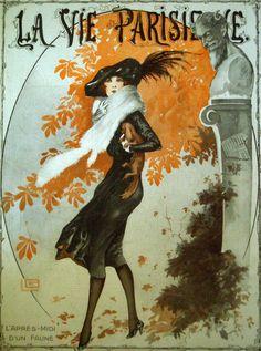 The Autumn Fawn, Georges Leonnec for La Vie Parisienne Oct. 1919