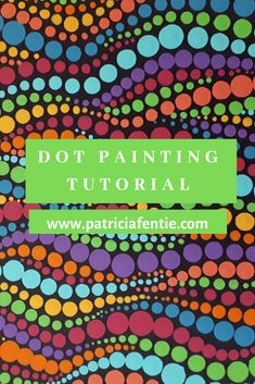 This FREE dot painting tutorial is very easy and fun to do. The abstract nature of this way of dotting is more of a free-form style of dot painting. Check it out! Dot Painting Tools, Dot Art Painting, Rock Painting Designs, Aboriginal Dot Painting, Car Painting, Stone Painting, Mandala Art Lesson, Mandala Drawing, Mandala Painting