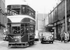Tram at the Foot of Leath Walk  -  travelling towards Newhaven and Granton