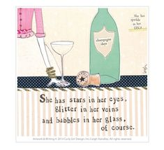 Behind the Card: Glitter In Her Veins! Curly Girl Design | Blog