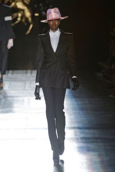 Philip Treacy at London Fashion Week Spring 2013 - StyleBistro  I'd wear a zoot suit and that hat too...