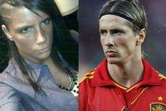 10 Football Stars And Their Own Female Lookalikes 1 New Africa, Africa News, Look Alike, Football, Female, Stars, Fernando Torres, Soccer, Futbol
