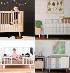 Spring Street, distributors of Oeuf nursing #furniture, offer an excellent, stylish range of #convertible pieces including this #crib-turned-toddler-bed.