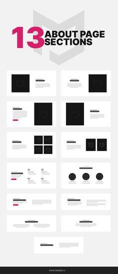 Web Design Color, Website Design Layout, Web Design Tips, Web Layout, Footer Design, Graphic Design Layouts, Layout Design, About Us Page Design, Minimal Web Design