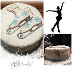 Nádherná vintage torta s korčuľami. Autorka: marta27. Tortyodmamy.sk.