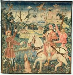 The Flight of the Heron, Franco-Flemish, 15th century (tapestry)