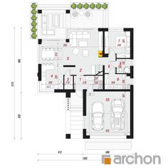 Projekt domu Dom w jaskierkach (G2) - ARCHON+ Modern Bungalow Exterior, Modern Family House, Gable House, Home Fashion, Larry, Planer, Snake, House Plans, Spirituality