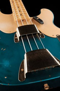 Fender 51 Relic P-Bass ALPB, bass guitar, Customshop, Namm Show 2013, Colour: Aged Lake Placid Blue #thomann #fender #bass
