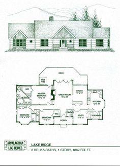 Log Home Floor Plans - Log Cabin Kits - Appalachian Log Homes by AislingH