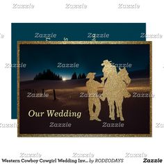 Shop Western Cowboy Cowgirl Wedding Invite Engagement created by RODEODAYS.