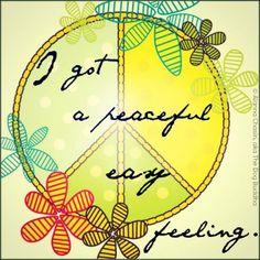 Peaceful Easy Feeling / Eagles / Song Lyrics