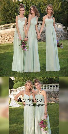 1efc8ea62d8 2018 Chic A-line Scoop Long Bridesmaid Dress Lace Bridesmaid Dresses  Evening Dresses AMY2228