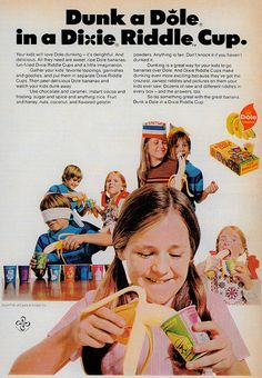 Dixie Riddle Cups / Dole Bananas (1973) by MewDeep, via Flickr