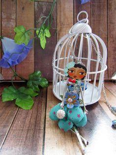 Mayuko fashion doll necklace doll necklace Harajuku by JezSakuraya